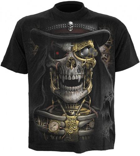 t-shirt homme tete de mort steam punk