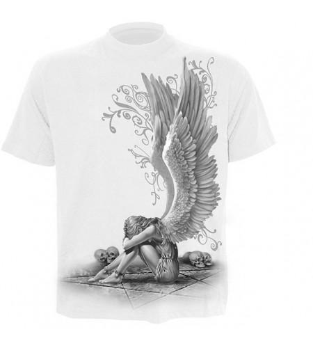 t-shirt ange gothique homme