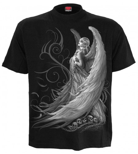 boutique vente tshirt ange gothic spiral manches courtes captive angel