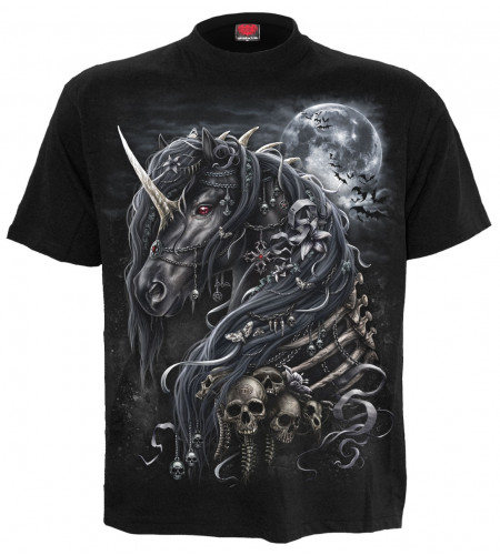 Dark unicorn - T-shirt dark fantasy - Spiral homme