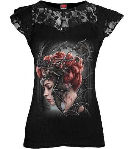 Boutique en ligne vente vetement gothic imprimé reine vampire marque spiral