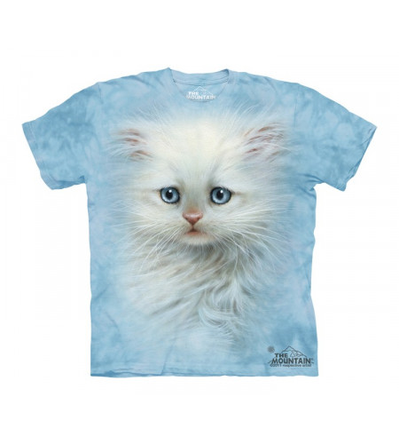t-shirt chat blanc enfant the mountain