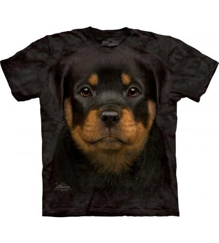 tee shirts chiots motif chien rottweiler - The Mountain