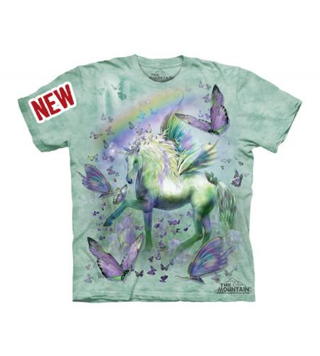 t-shirt enfant licorne et papillons
