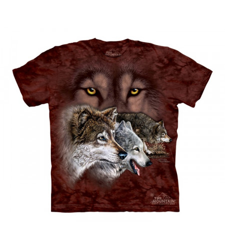 tee shirt enfant motif loups the mountain
