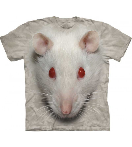 t-shirt the mountain tete de rat blanc