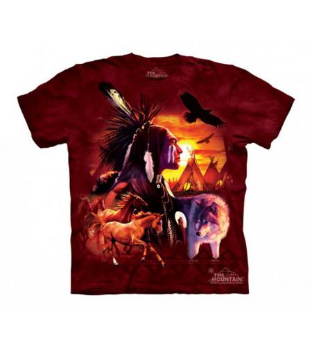 boutique tee shirt motif indien the mountain