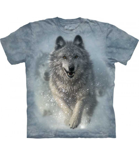 tee-shirt the mountain motif loup blanc snow plow