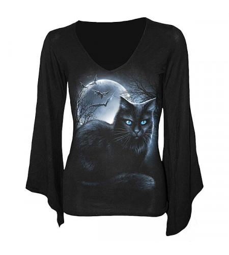 t-shirt femme imprimé chat