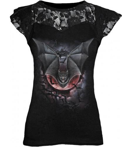 boutiqiue gothique vêtement femme t-shirt vzampire chauve souris