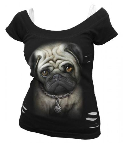 boutique tee shirts pour femme motif chien piercing