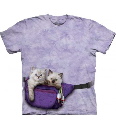 t-shirt fille mauve motif chaton the mountain