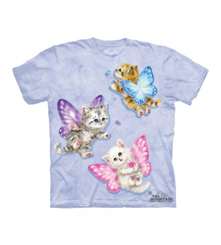 t-shirt fille mauce chatons papillons
