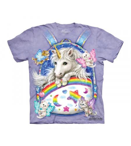 t-shirt fille mauve licorne the mountain
