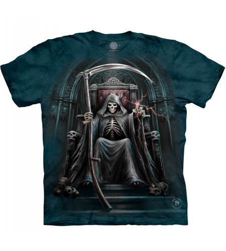 Time waits for no man - T-shirt gothic Reaper - The Mountain - Anne Stokes