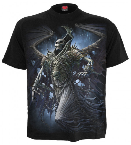 Boutique tee shirt gothic dark fantasy spiral manches courtes