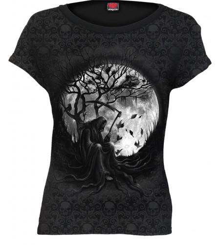 boutique vente vetement tee shirt gothique femme la faucheuse reaper killing moon manches courtes