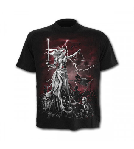 t-shirt homme gothique spiral blind justice manches courtes