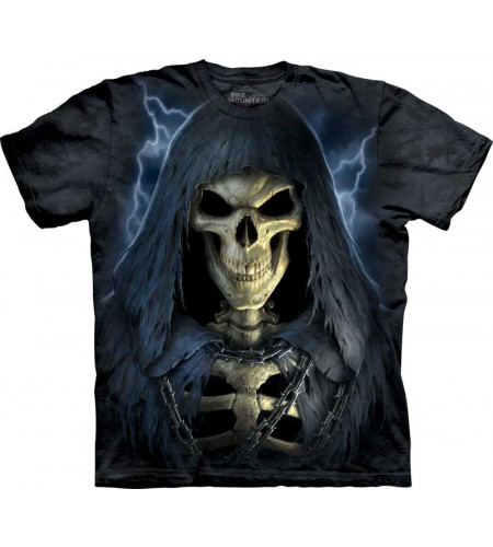 tee shirt squelette pour homme death in chains the mountain