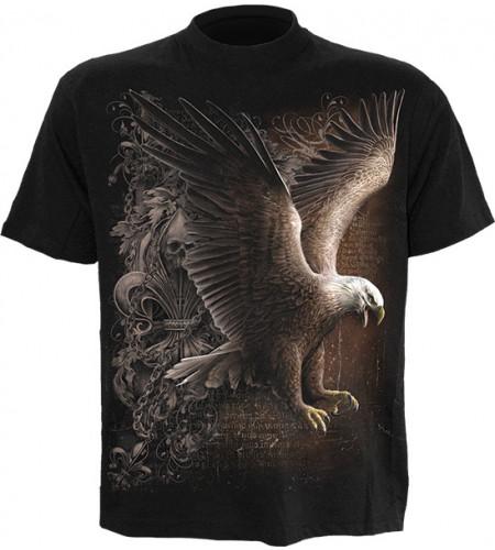 t-shirt homme motif rapace aigle