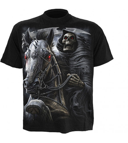 tee shirt gorhique homme reeaper squelette