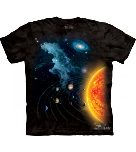 tee shirt système solaire the mountain