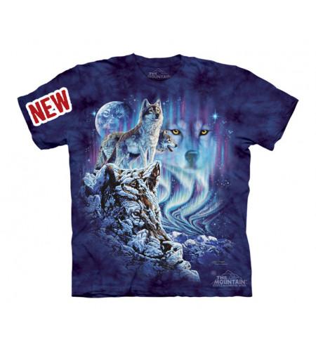 t-shirt enfant motif loup des neiges hiver