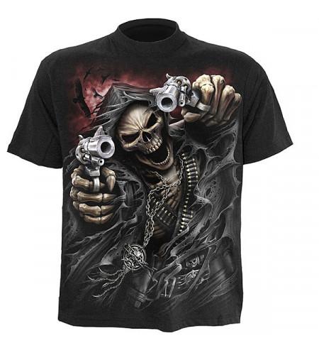 tee shirt squelette gun