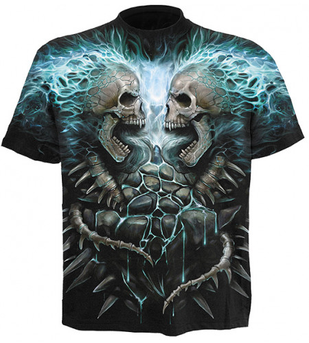 tee shirt squelettes punk rock