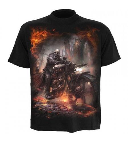 t-shirt motard squelette