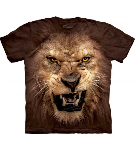 tee-shirt homme tete de lion the mountain lion roaring