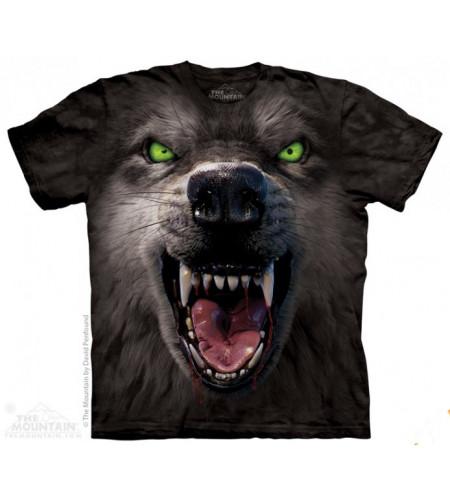 boutique vente de tee shirts anilmaux motif loup the mountain