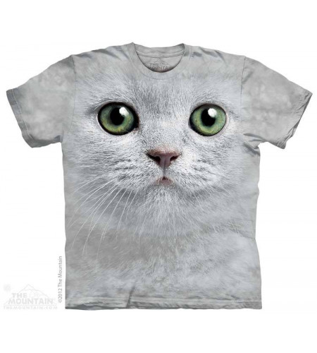 t-shirt  tete de chat the mountain green eyes