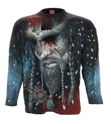 boutique vente en ligne tee shirt homme motif viking guerrier manches longues