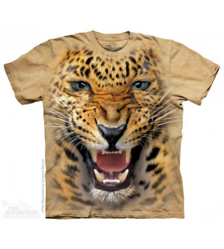 tee shirt adulte motif animaux leopard
