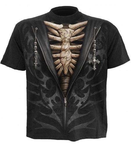 Unzipped - T-shirt gothique squelette - Homme - Spiral