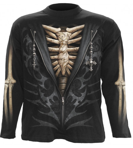 Unzipped - T-shirt homme gothic - Manches longues - Spiral