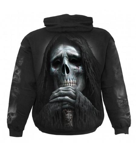 Boutique ghotique spiral grim reaper requiem sweat shirt