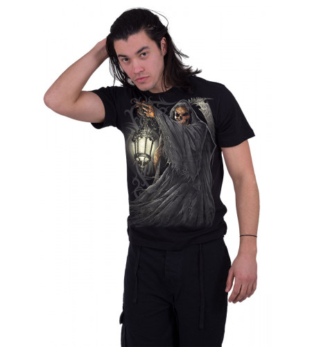 Death lantern - T-shirt gothique reaper squelette - Homme - Spiral