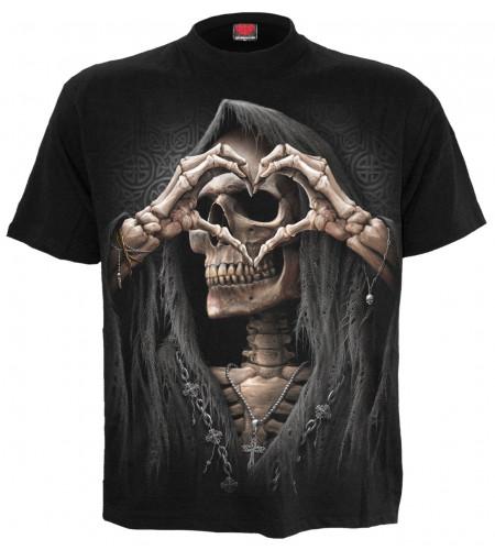 Dark love - T-shirt gothique squelette - Homme - Spiral