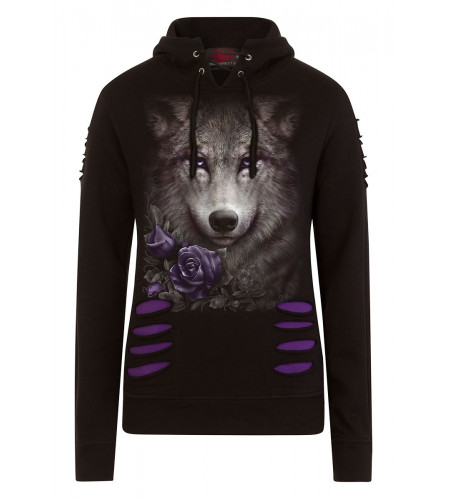 Wolf roses - Sweat shirt loup - Femme - Spiral