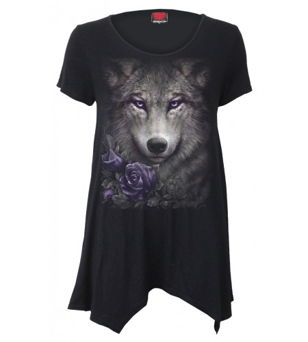 Wolf roses - Tunique femme - Loup - Spiral