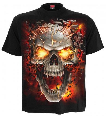 Magasin vetement vente tee shirt dark fantasy crane vampire skull blast manches courtes