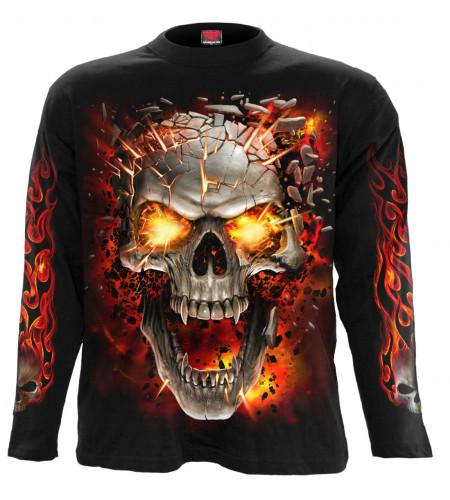 Skull blast - Tee-shirt crâne vampire - Homme - Spiral