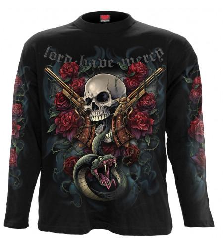 Lord have mercy - T-shirt crane gun serpent - Homme - Spiral