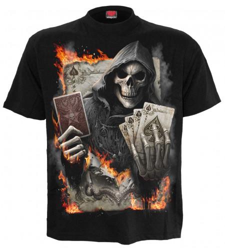 Ace reaper - T-shirt gothique squelette - Homme - Spiral