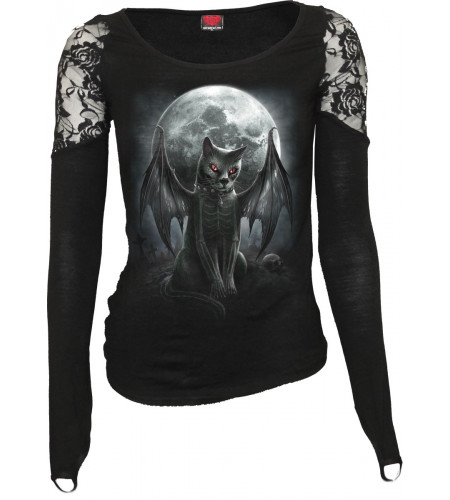 Vamp cat - T-shirt femme - Manches longues