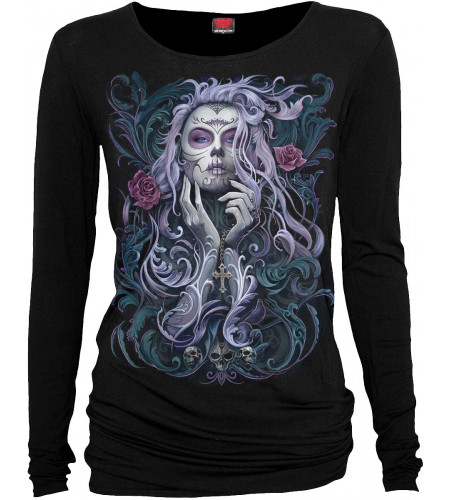 Rococo skull - T-shirt femme gothic romantique - Spiral