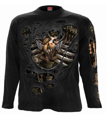 boutique vêtement motif seampunk gothic manches longues te shirt pour homme