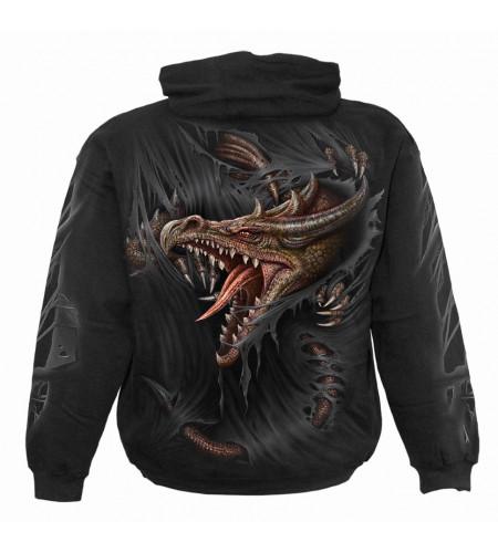 Boutique vente vetement enfant sweat shirt motif dragon breaking out